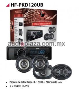PAQUETE AUTOESTEREO HF AUDIO HF-PKD120UB