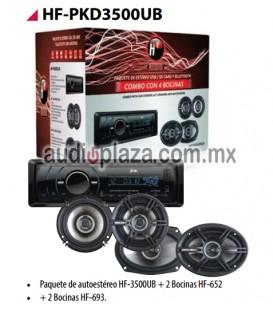 PAQUETE AUTOESTEREO HF AUDIO HF-PKD3500UB